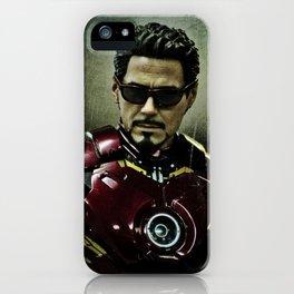 Tony Stark in Iron man costume  iPhone Case