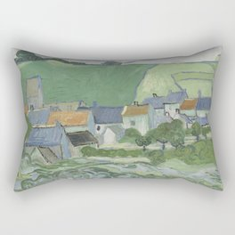 View of Auvers Rectangular Pillow