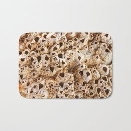 Natural pearl shell. Textural background. Macro Bath Mat