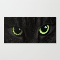Green Cat Eyes Canvas Print