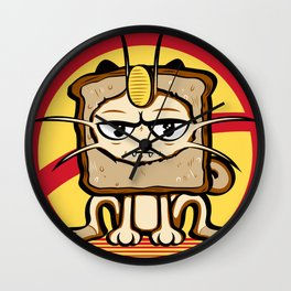 Meowth Breading Wall Clock