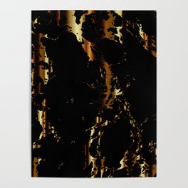 Black and Gold Marble Design Poster