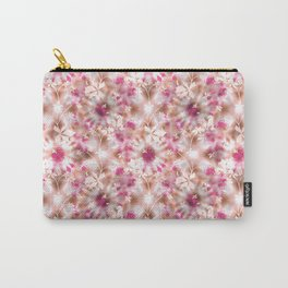 kaleidoscopic background.White and red colors Carry-All Pouch
