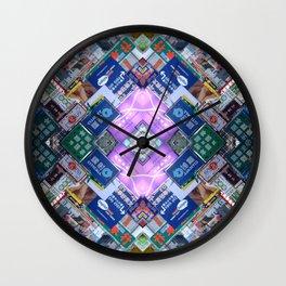 Hong Kong Kaleidoscope 03 Wall Clock