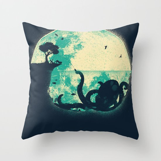 The Big One Throw Pillow by Jay Fleck Society6