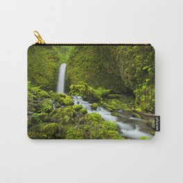 III - Remote waterfall in lush rainforest, Columbia River Gorge, Oregon, USA Carry-All Pouch