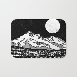 Mount Shasta Black and White Bath Mat