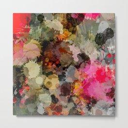 Paint Splatter Bouqet  Metal Print
