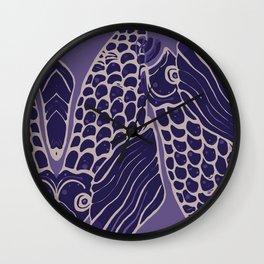 Koi on Koi Wall Clock