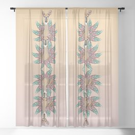 Deer Totem Sheer Curtain