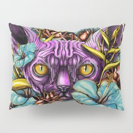 The Sphynx and the Flowers Pillow Sham
