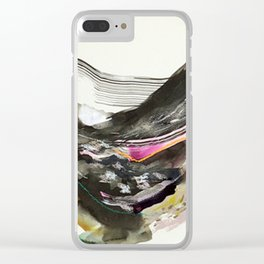 Day 44: The exchange between a tired body and a lively mind. No peace can be held in the soul until Clear iPhone Case