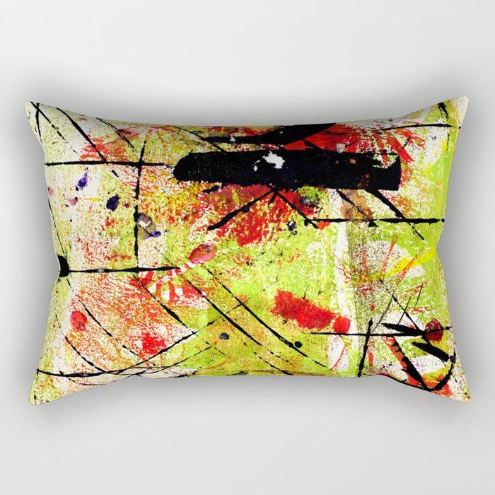 In The Falling Rain Rectangular Pillow