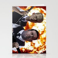 hot fuzz Stationery Cards featuring Hot Fuzz by Richtoon
