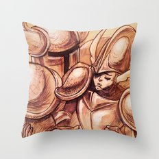 ...you caught me Throw Pillow
