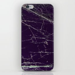 Purple Marble Crease Texture Design iPhone Skin