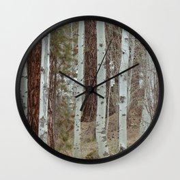 A Walk Through The Aspen Wall Clock