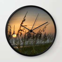 Sunset on Anna Mara Island Wall Clock