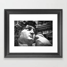 the David's face, Florence Tuscany Framed Art Print
