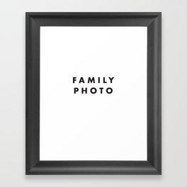Family Photo Framed Art Print