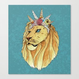 Poseidon, the Sealion Canvas Print