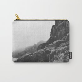 Rugged South Cornish Coast in sea mist. Carry-All Pouch