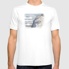 On My Way Home White Mens Fitted Tee MEDIUM