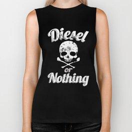 Diesel or Nothing Truck 4X4 Power Fuel Skull White Biker Tank