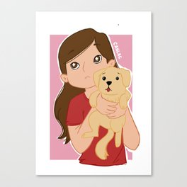 Waverly with Puppy Canvas Print