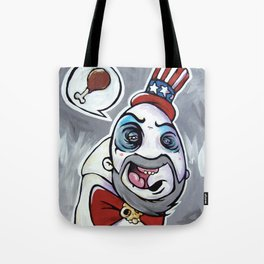 Howdy Folks, Capt Spaulding, Devils Rejects, House of 1,000 Courpses, Sid Haig Tote Bag