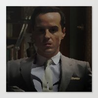 moriarty Canvas Prints featuring Professor Moriarty by GingerRogers
