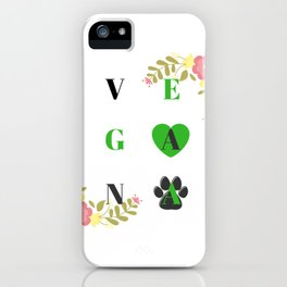 Vegana por los animales | Vegan for animals iPhone Case