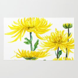 Yellow Chrysanthemums Rug