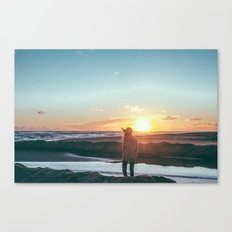 sunset hunter Canvas Print