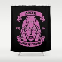 transformer Shower Curtains featuring Legend Of Cybertron - Arcee by Vitalitee