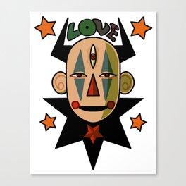 Alien Love Clown 666 Canvas Print