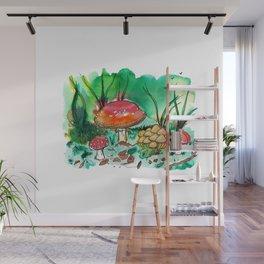 Toadstool Mushroom Fairy Land Wall Mural