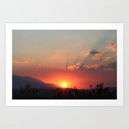 Heavens Glow Art Print