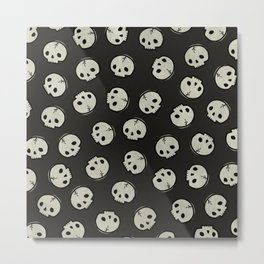 Skull Pattern (BLACK) Metal Print