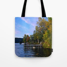 Autumn Arrives at the Lake Tote Bag