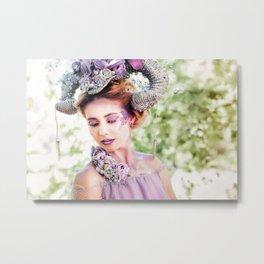 Fantasy fashion art photo woman as aries Metal Print
