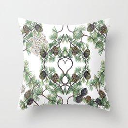 Let Love Grow, Heart Part Close-up Throw Pillow