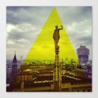 milan Canvas Prints featuring Milan by natsnats