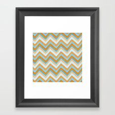 Something Fishy Waves. Framed Art Print