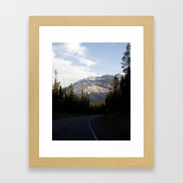 Mountains gone by Framed Art Print