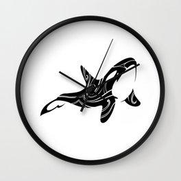 Tribal Orca 2 Wall Clock