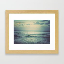 Evening Ocean Framed Art Print