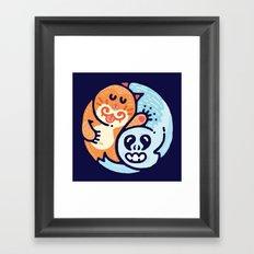 Ginger & The Spook Framed Art Print