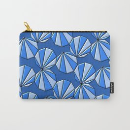 Enneagons - Blue Carry-All Pouch