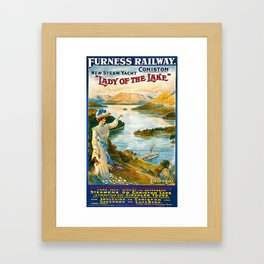Furness Railway and Lady of the Lake Framed Art Print